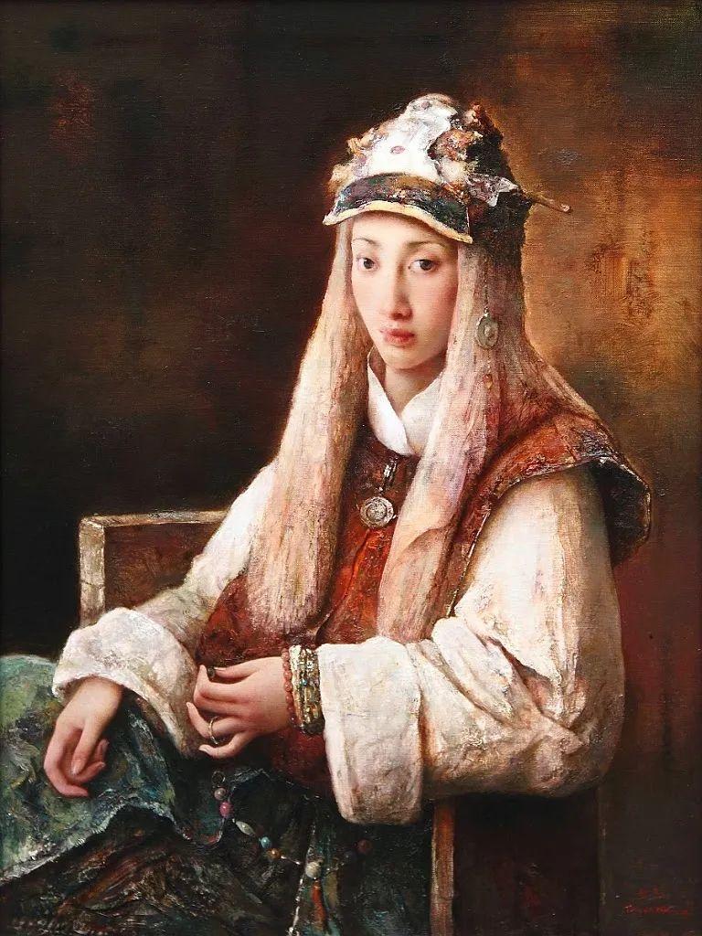 他画的西藏女孩,美得孤高、坚韧!插图143