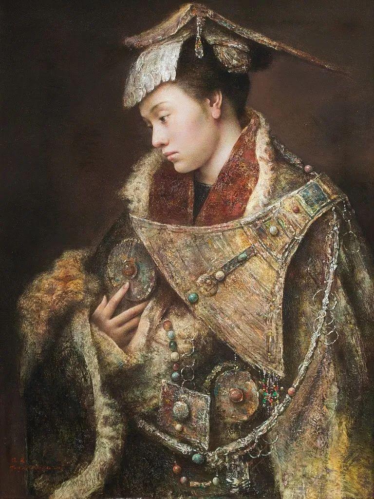 他画的西藏女孩,美得孤高、坚韧!插图145