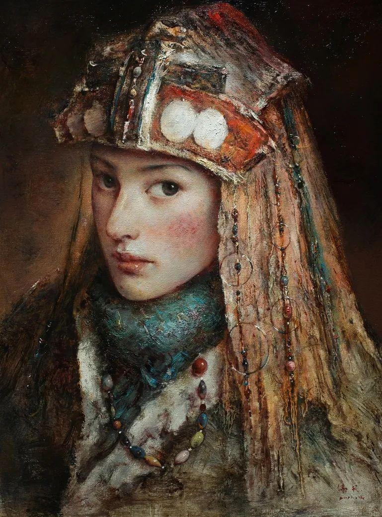 他画的西藏女孩,美得孤高、坚韧!插图147