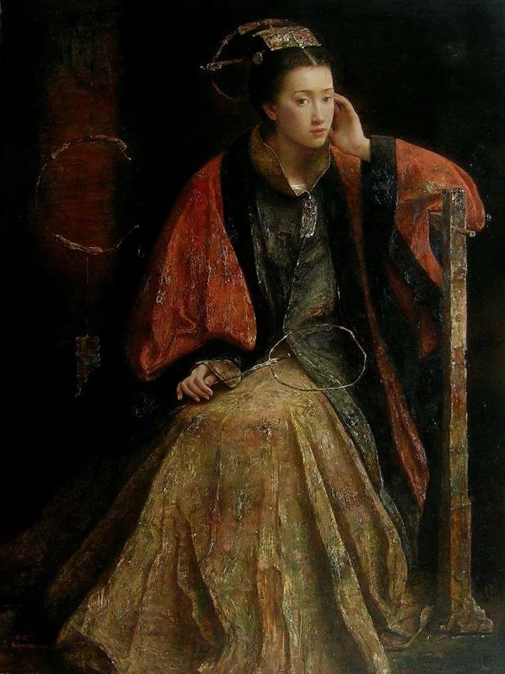 他画的西藏女孩,美得孤高、坚韧!插图149