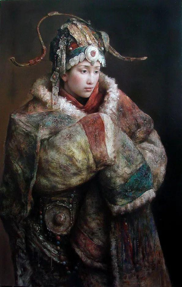 他画的西藏女孩,美得孤高、坚韧!插图153