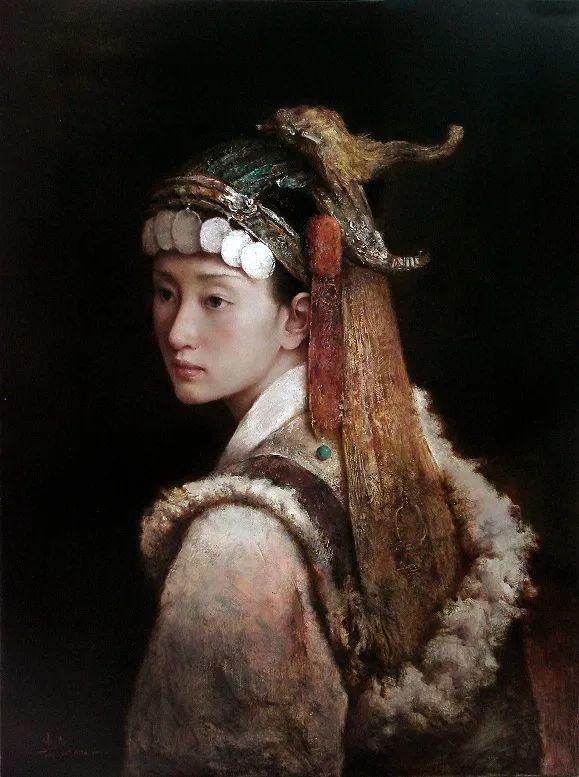 他画的西藏女孩,美得孤高、坚韧!插图155