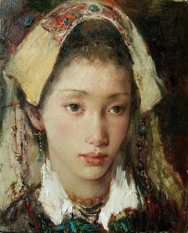 他画的西藏女孩,美得孤高、坚韧!插图157