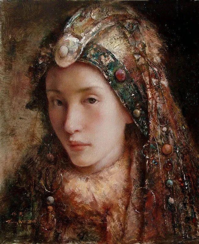 他画的西藏女孩,美得孤高、坚韧!插图159