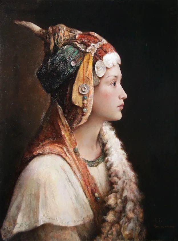 他画的西藏女孩,美得孤高、坚韧!插图163