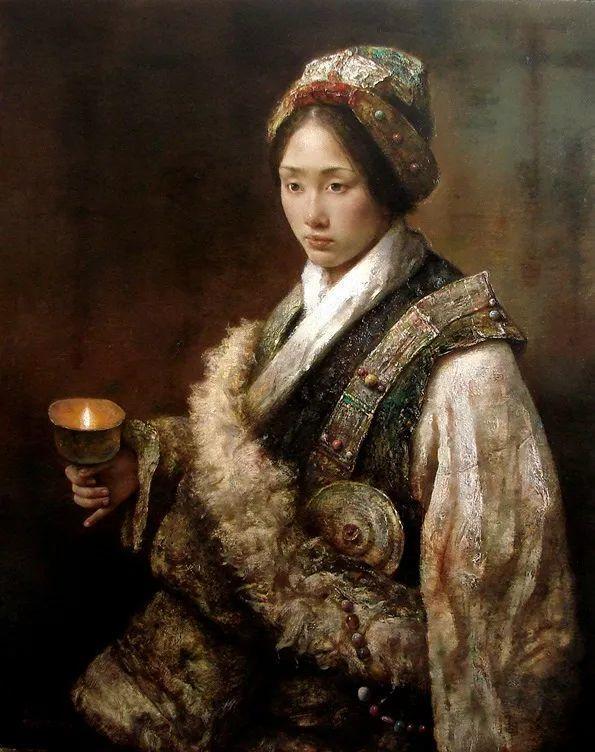他画的西藏女孩,美得孤高、坚韧!插图165