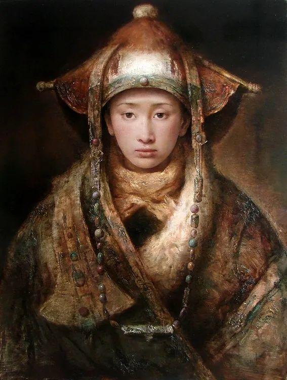 他画的西藏女孩,美得孤高、坚韧!插图167