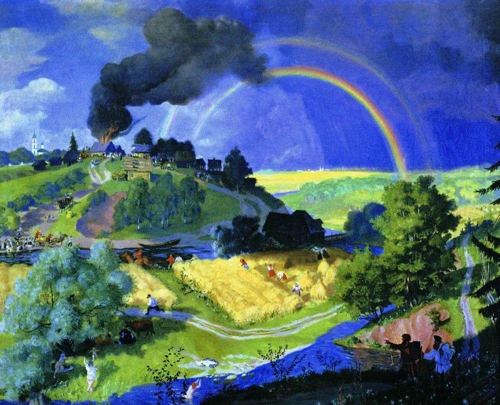 明快鲜亮的色彩,描绘俄罗斯乡村日常生活!插图17