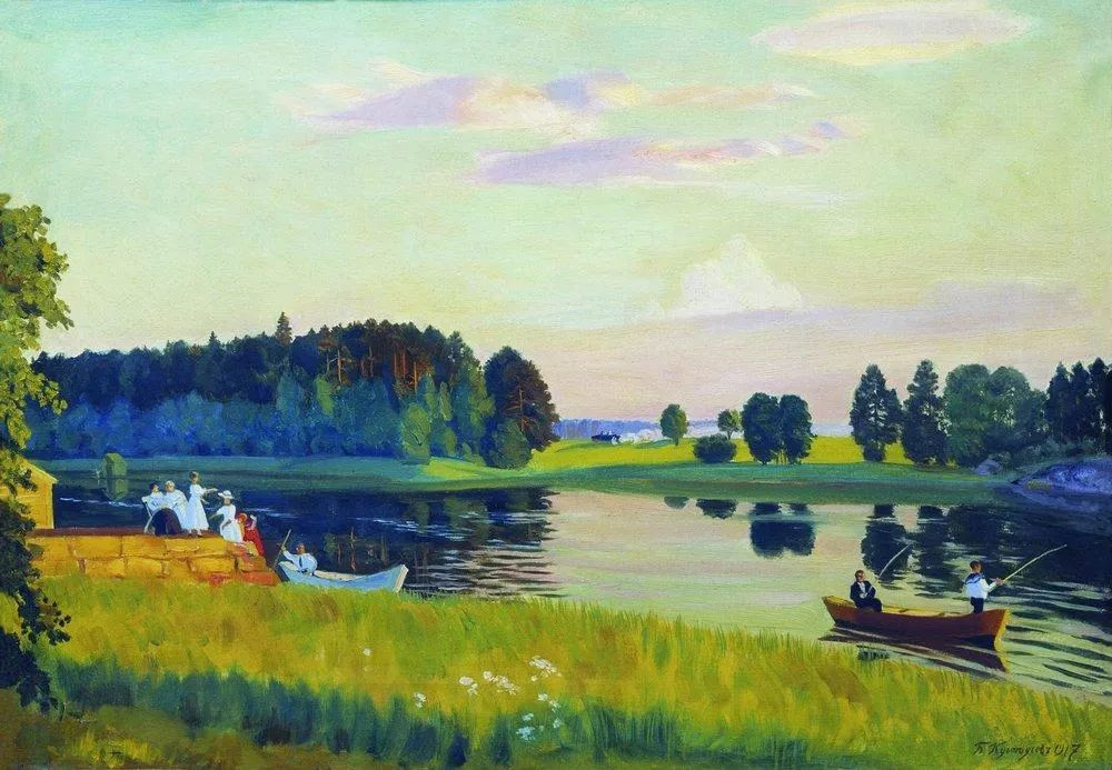 明快鲜亮的色彩,描绘俄罗斯乡村日常生活!插图23