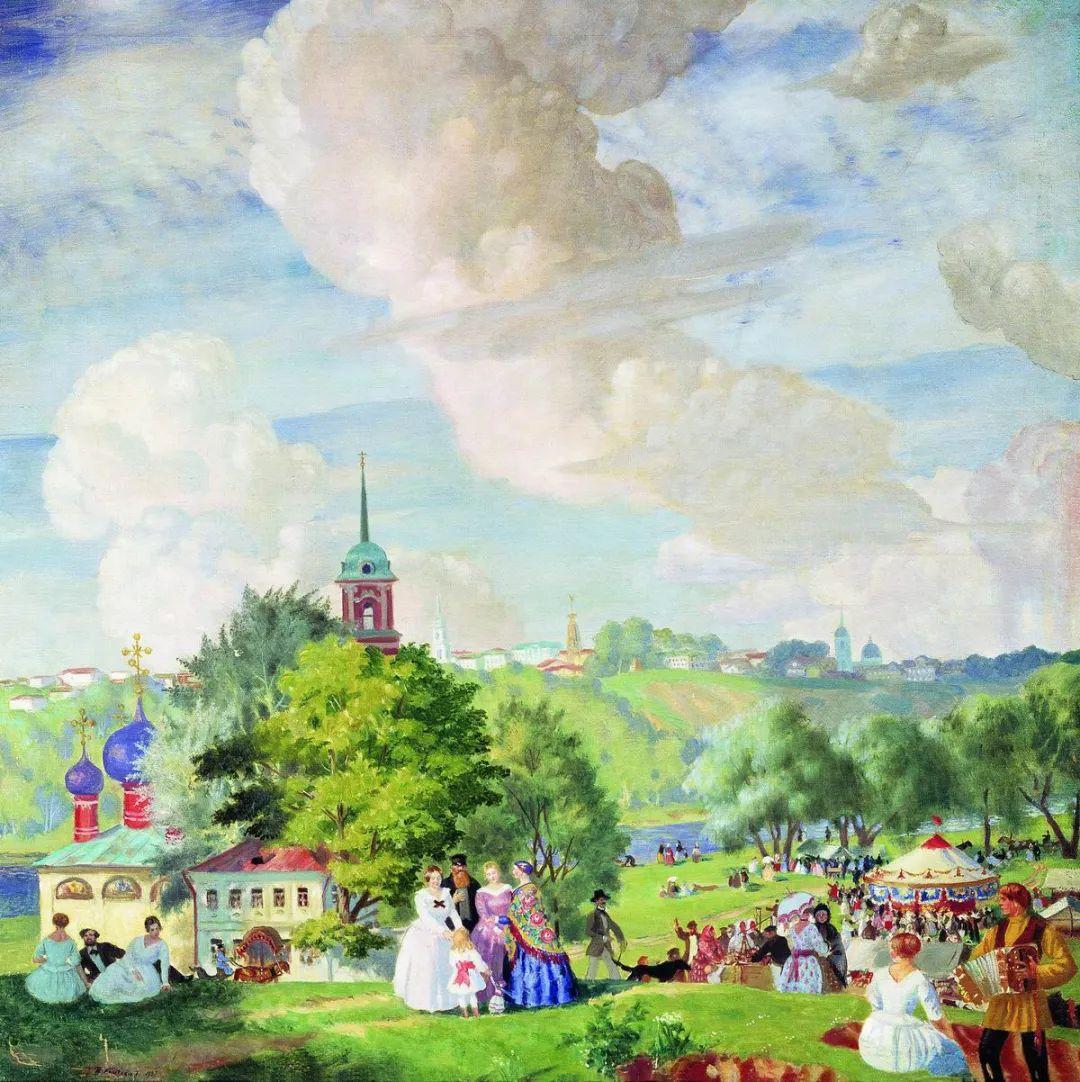 明快鲜亮的色彩,描绘俄罗斯乡村日常生活!插图47