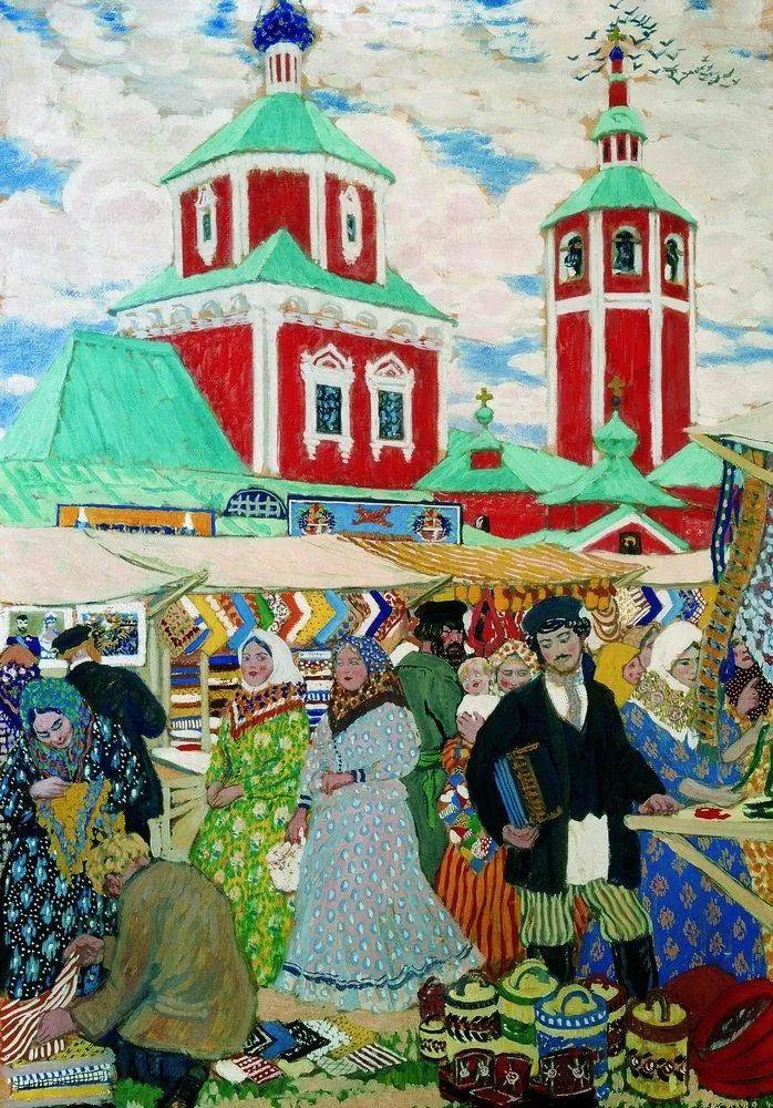 明快鲜亮的色彩,描绘俄罗斯乡村日常生活!插图59
