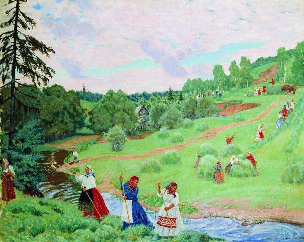 明快鲜亮的色彩,描绘俄罗斯乡村日常生活!插图71