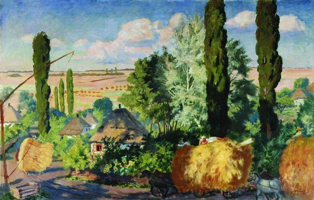 明快鲜亮的色彩,描绘俄罗斯乡村日常生活!插图85