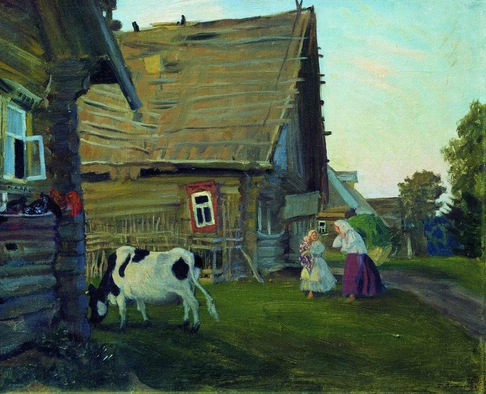 明快鲜亮的色彩,描绘俄罗斯乡村日常生活!插图129