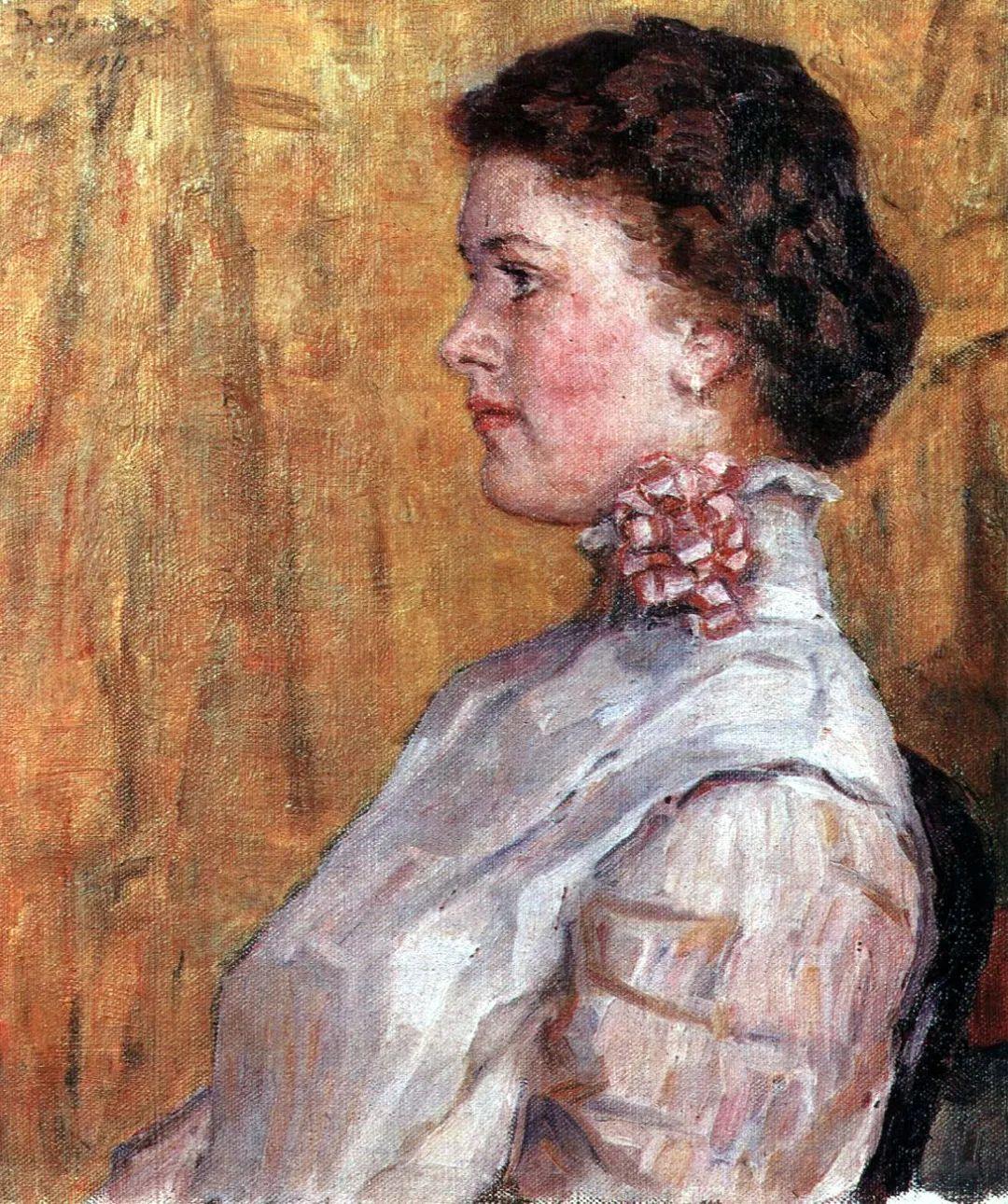 俄罗斯画坛先驱人物,瓦西里·苏里科夫人物作品选粹插图13