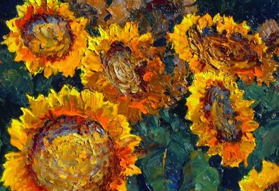 一位老爷爷笔下,色彩浓烈、笔触厚重的花卉与风景作品!插图21