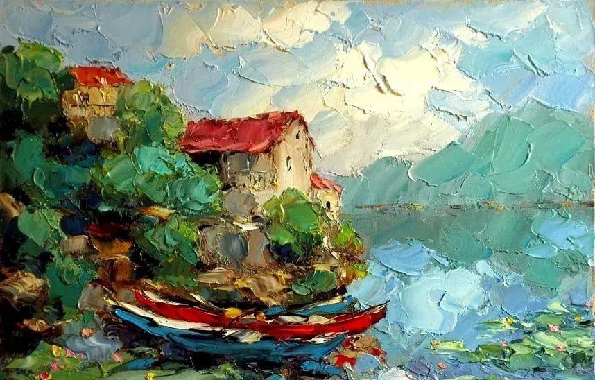 俄罗斯画家 弗拉基米尔·苏科瓦蒂 刮刀油画作品欣赏插图17