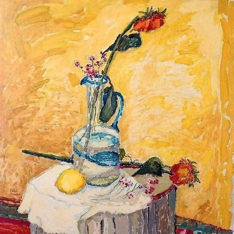 她的油画作品色彩丰富,充满爱意插图37