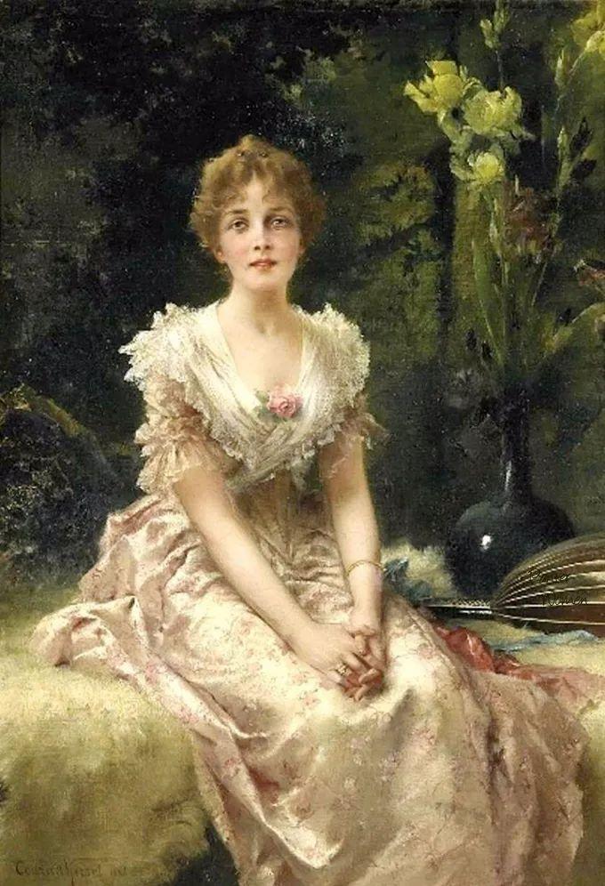 德国画家康拉德油画里的优雅女子,美!插图63