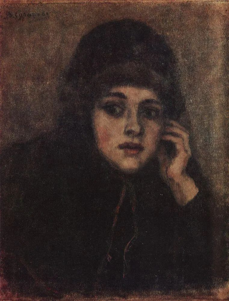 俄罗斯画坛先驱人物,瓦西里·苏里科夫人物作品选粹插图28