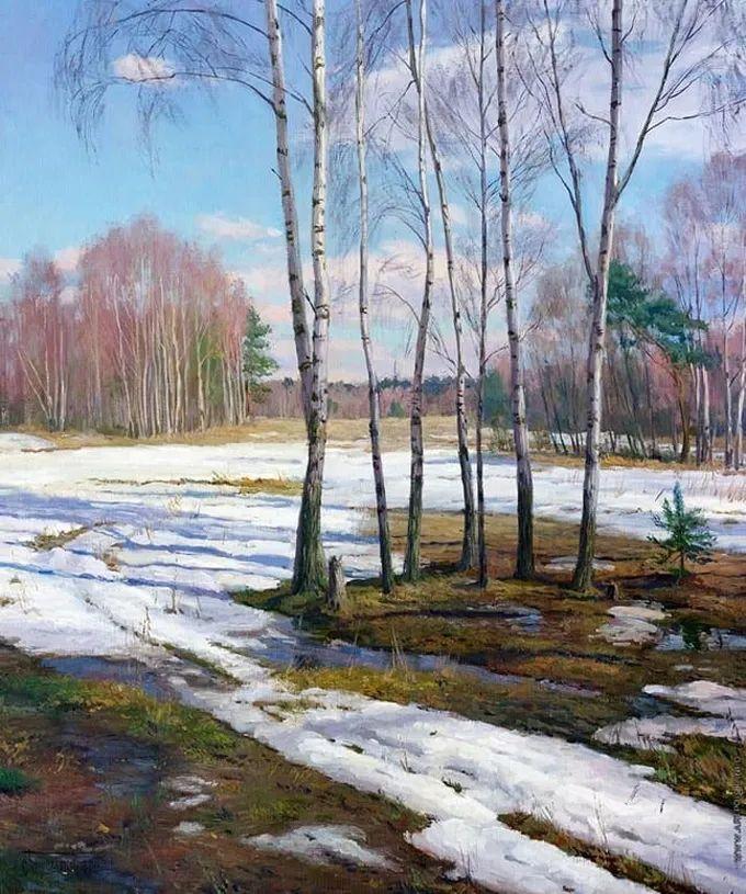 """岁月静好,俄罗斯"""" 小希施金 """" 的自然风景油画,美极了!插图105"""