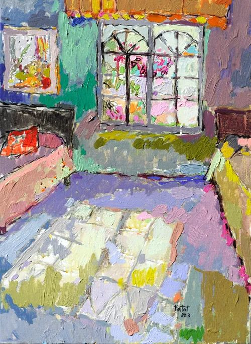 她的油画作品色彩丰富,充满爱意插图79