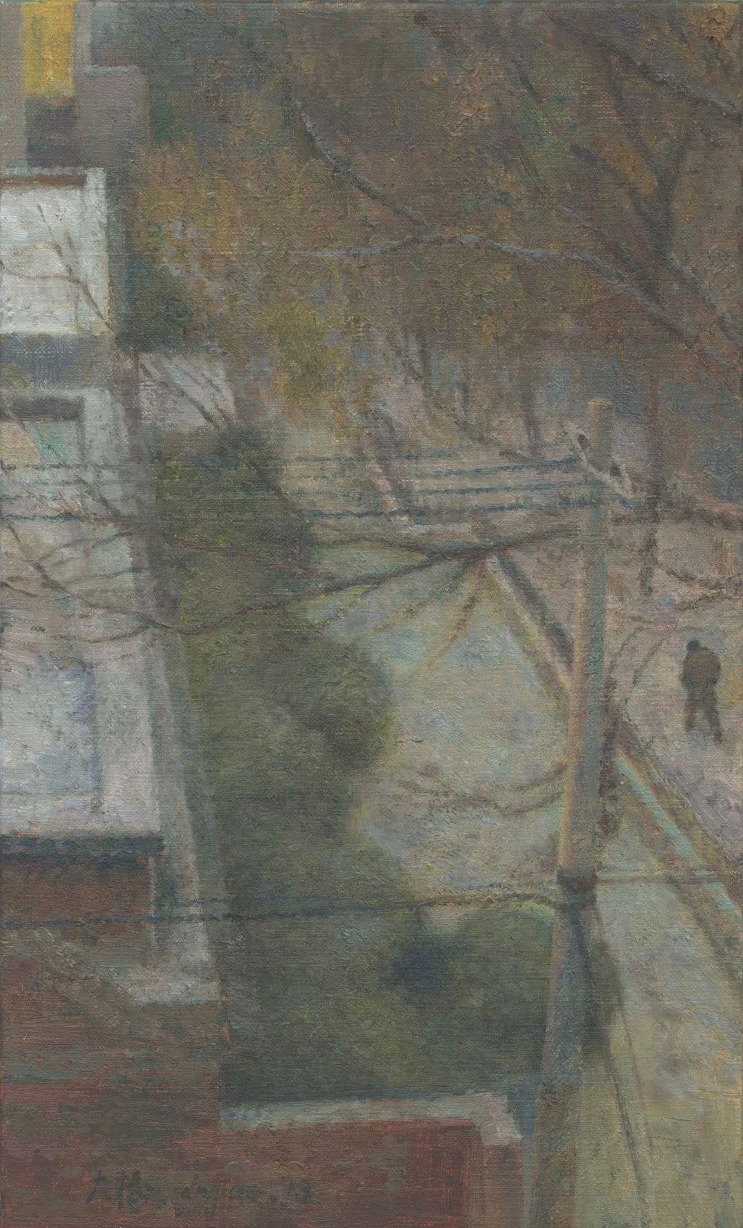 何大桥油画风景与人物插图57