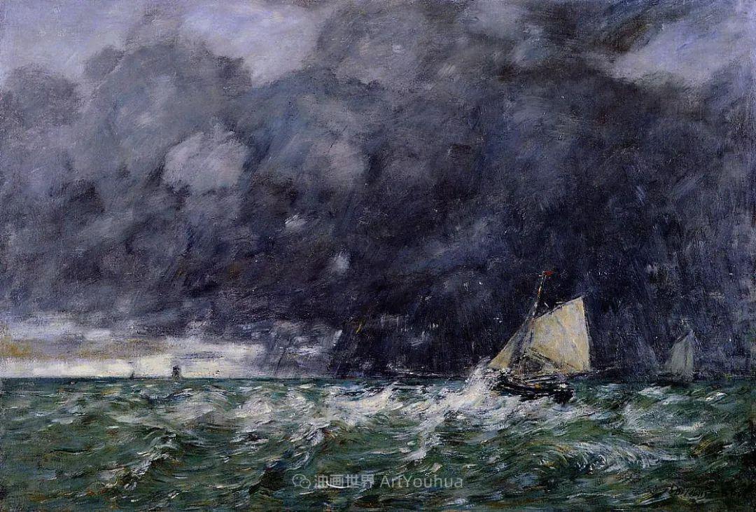 法国最早印象派画家欧仁·布丹,曾教莫奈写生!插图146