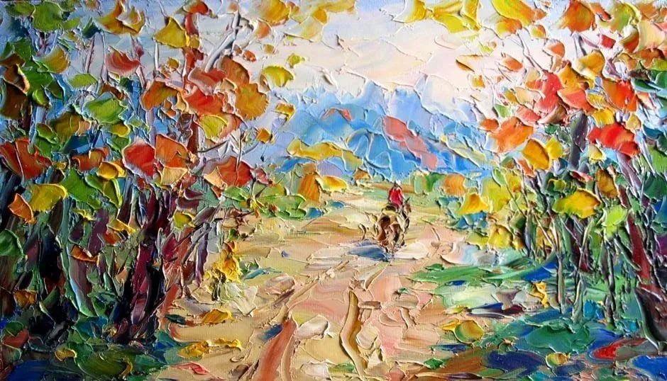 俄罗斯画家 弗拉基米尔·苏科瓦蒂 刮刀油画作品欣赏插图5