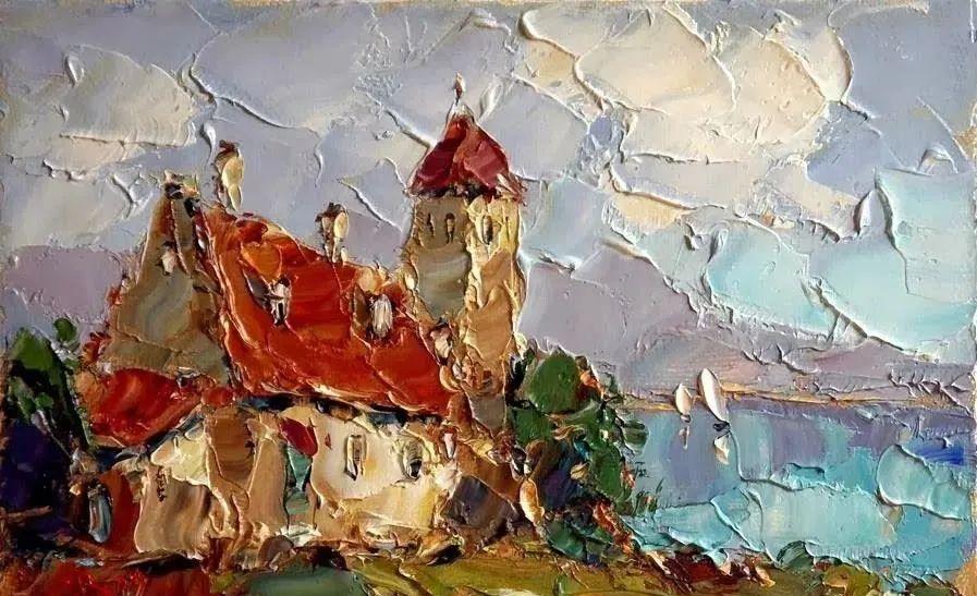 俄罗斯画家 弗拉基米尔·苏科瓦蒂 刮刀油画作品欣赏插图41