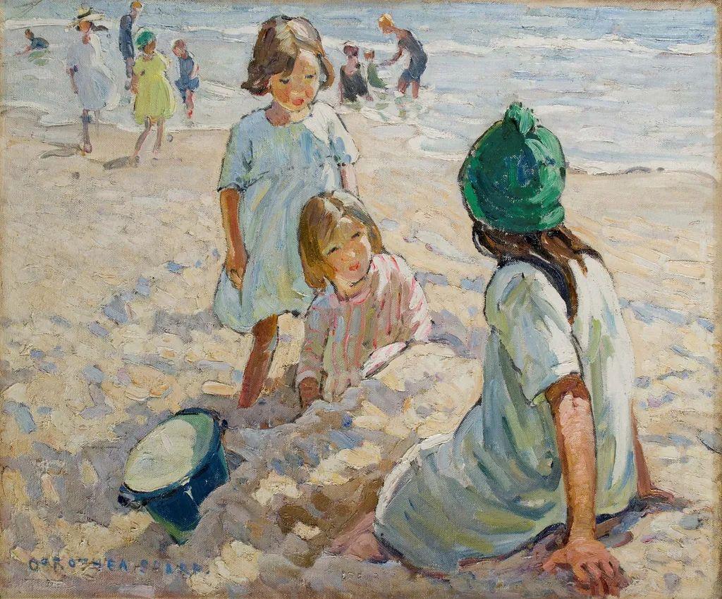 充满着写意风格的绘画,20世纪英国最伟大的女画家之一夏普插图61