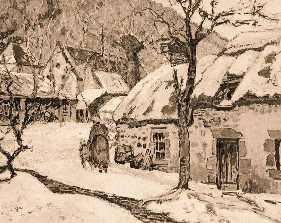 从律师到画家,法国后印象派画家维克多·查雷顿插图71
