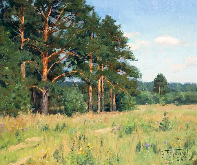 """岁月静好,俄罗斯"""" 小希施金 """" 的自然风景油画,美极了!插图73"""