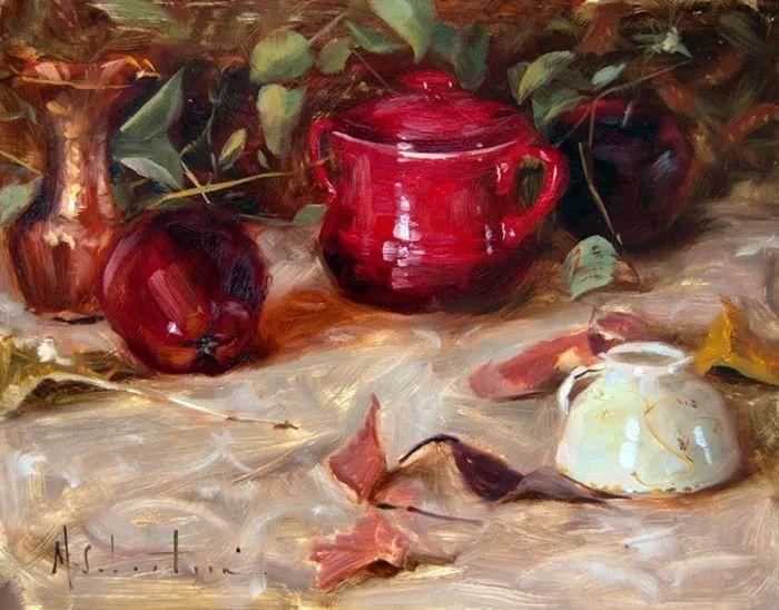 自学油画,她用真情描绘着周围的世界之美插图39