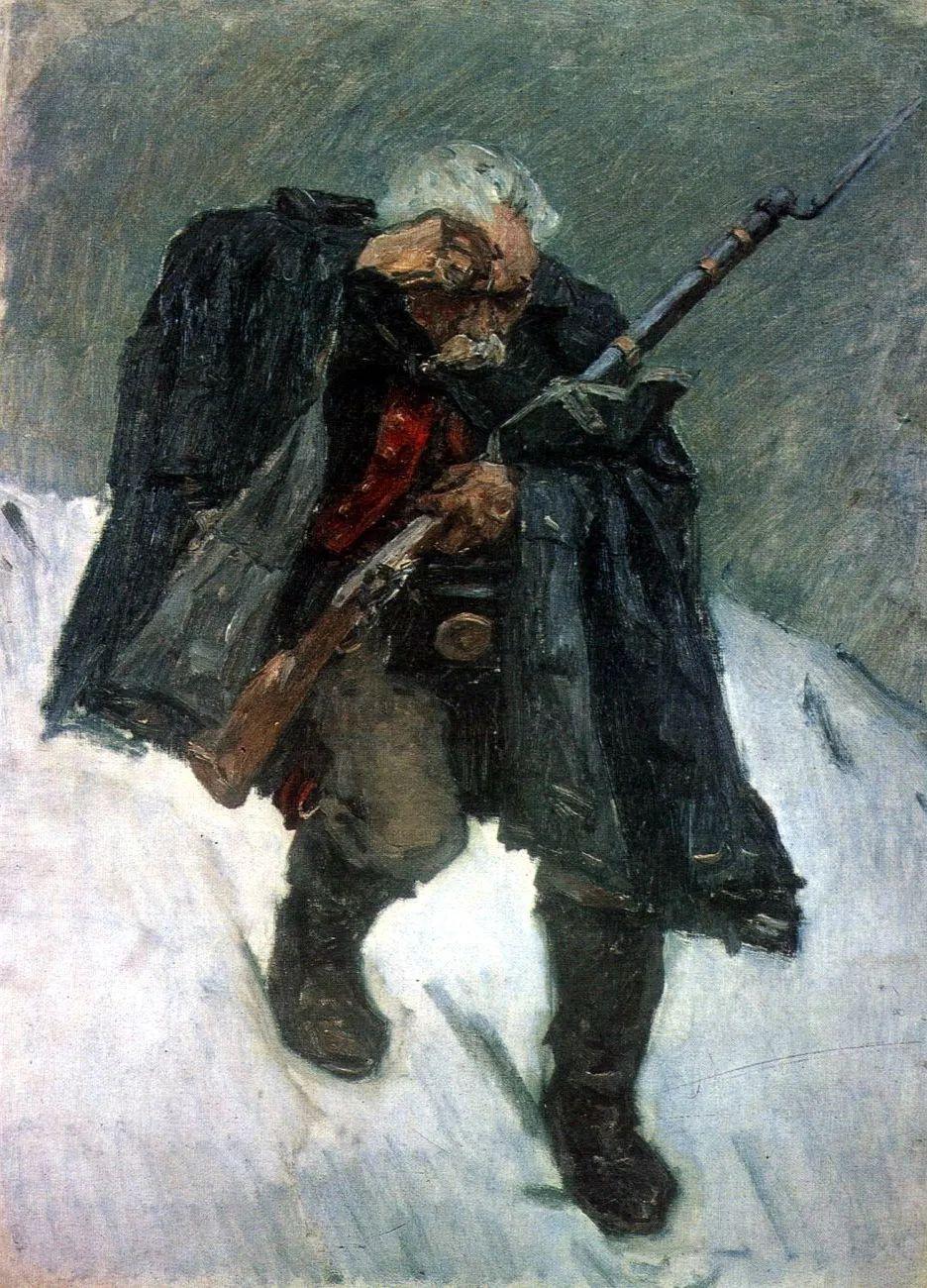 俄罗斯画坛先驱人物,瓦西里·苏里科夫人物作品选粹插图47