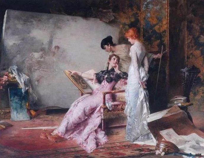 德国画家康拉德油画里的优雅女子,美!插图41