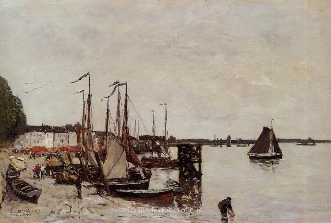 法国最早印象派画家欧仁·布丹,曾教莫奈写生!插图169