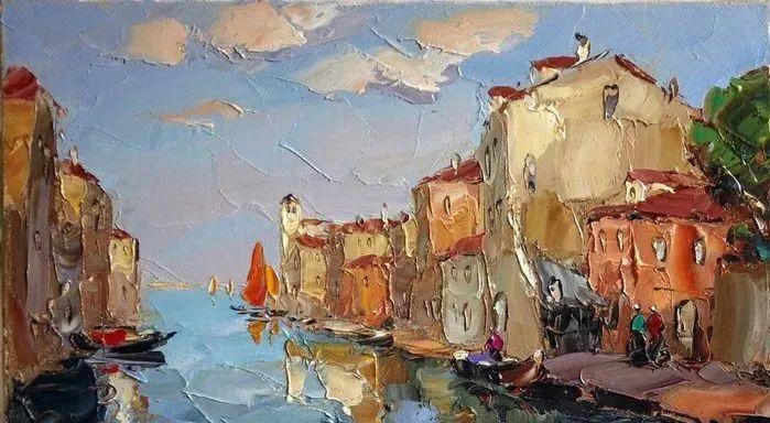 俄罗斯画家 弗拉基米尔·苏科瓦蒂 刮刀油画作品欣赏插图105