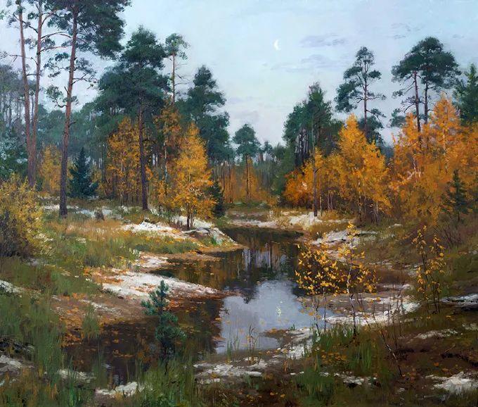 """岁月静好,俄罗斯"""" 小希施金 """" 的自然风景油画,美极了!插图113"""