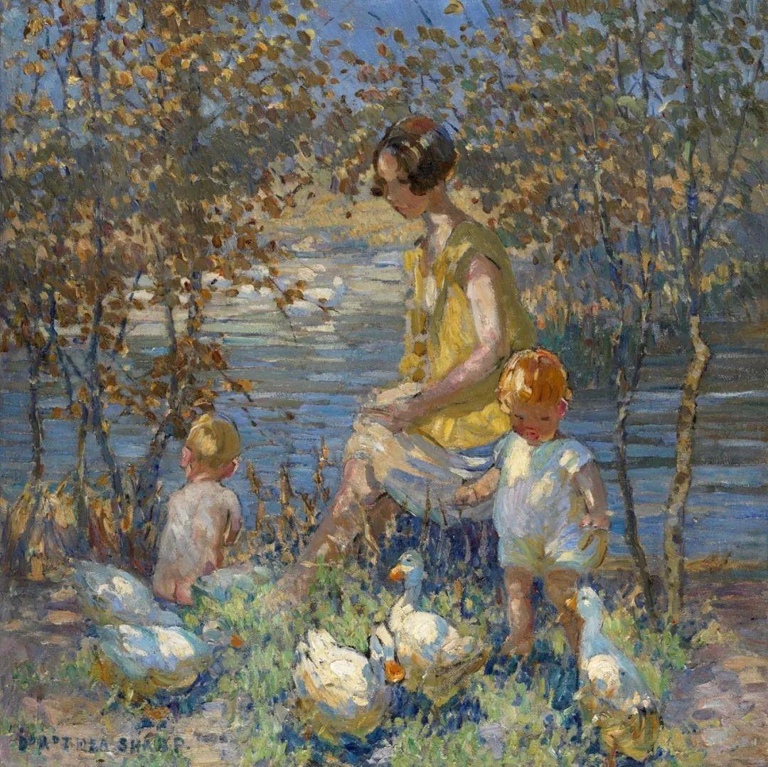 充满着写意风格的绘画,20世纪英国最伟大的女画家之一夏普插图29