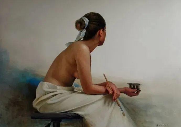 秘鲁自学成才艺术家的写实油画,展现着油画人物不同的美插图75