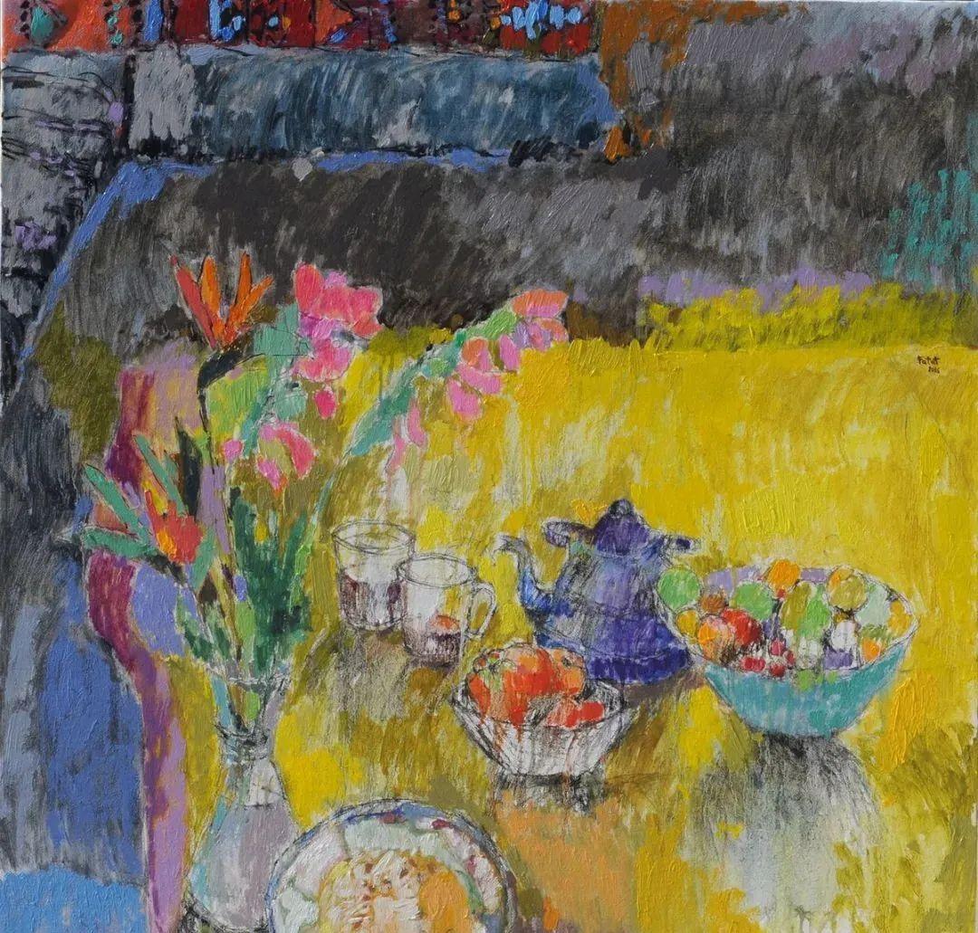 她的油画作品色彩丰富,充满爱意插图81