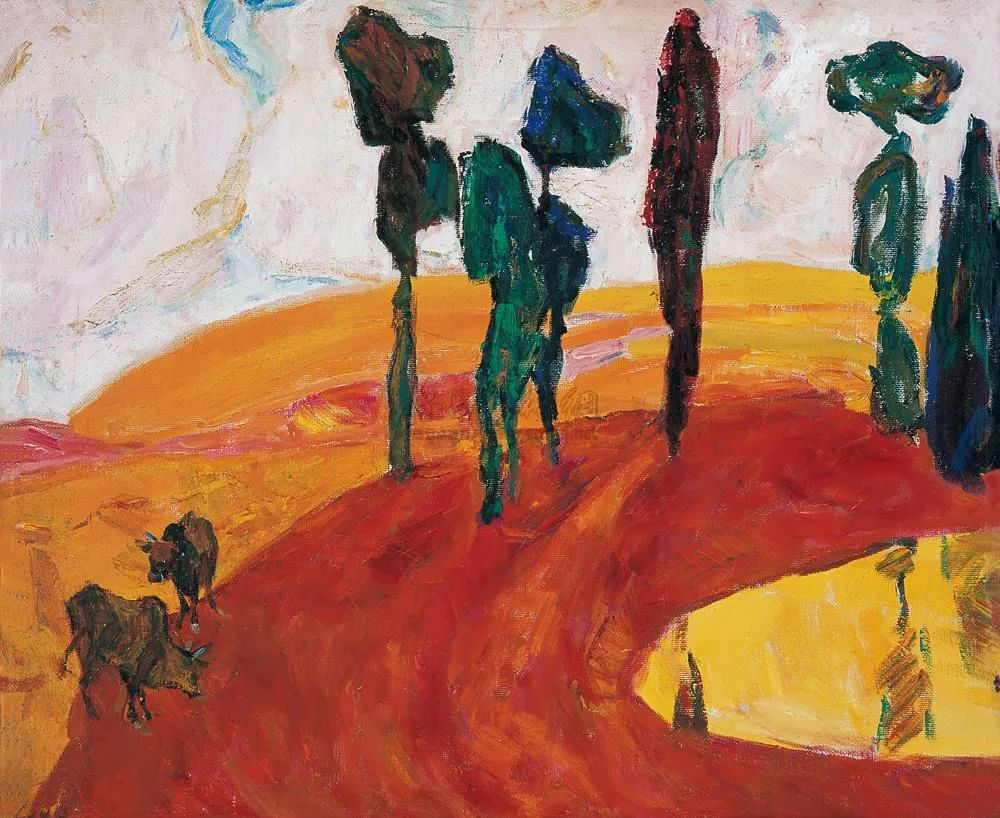 浓烈、明亮、斑斓、恣肆的色彩,这油画美极了插图71