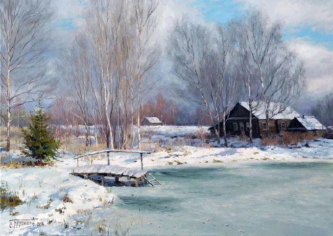 """岁月静好,俄罗斯"""" 小希施金 """" 的自然风景油画,美极了!插图99"""