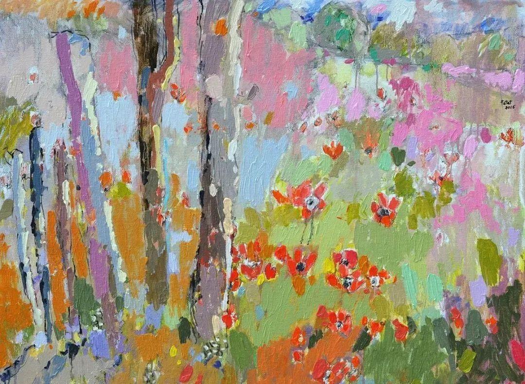 她的油画作品色彩丰富,充满爱意插图29