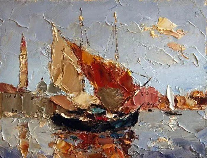 俄罗斯画家 弗拉基米尔·苏科瓦蒂 刮刀油画作品欣赏插图61