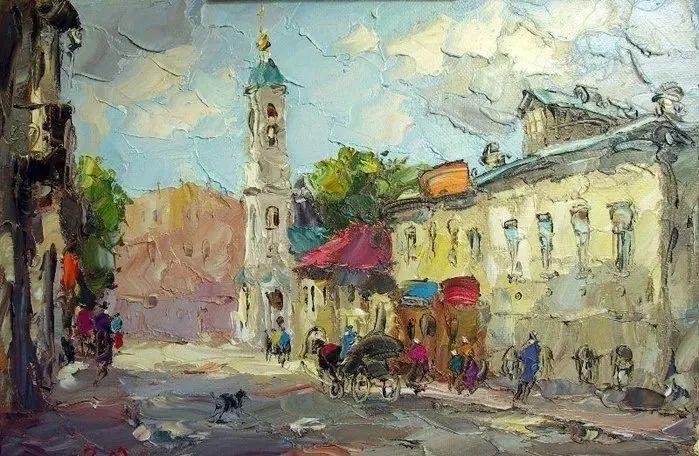 俄罗斯画家 弗拉基米尔·苏科瓦蒂 刮刀油画作品欣赏插图75