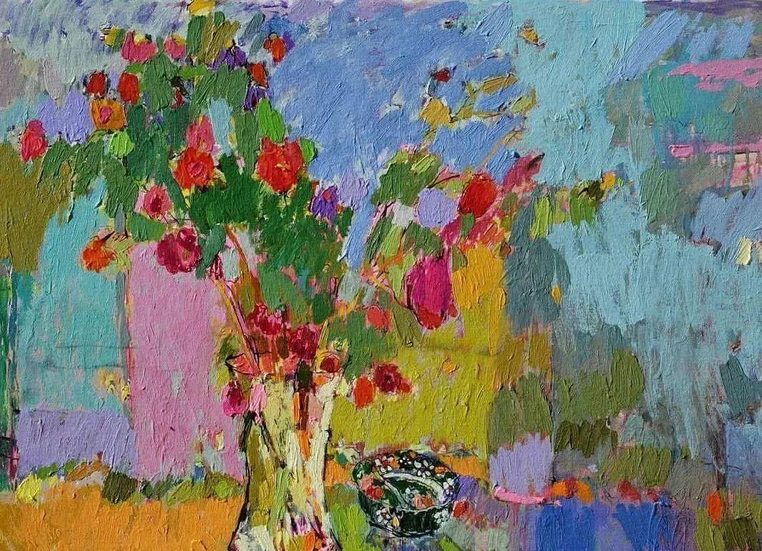 她的油画作品色彩丰富,充满爱意插图35