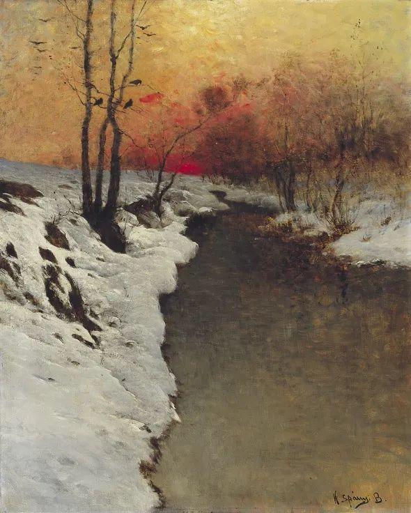 匈牙利杰出的自然风景画家——贝拉·斯潘依插图53