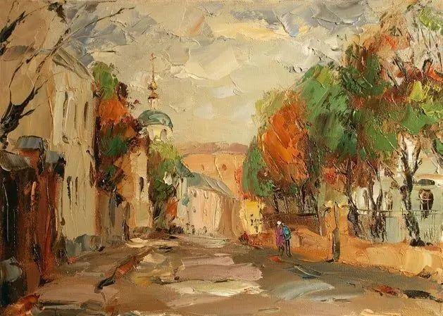 俄罗斯画家 弗拉基米尔·苏科瓦蒂 刮刀油画作品欣赏插图57